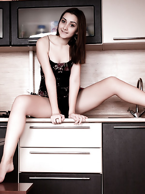 Amour Angels  Stella  Brunettes, Funny, Kitchen, Teens, Solo